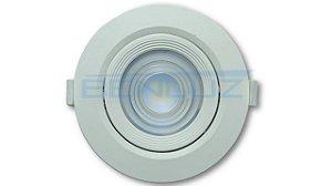 Spot LED 10W Redondo Direcionável de Embutir SMD - Branco Frio