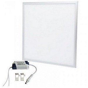 Luminária Painel Plafon LED 60W de Embutir 62x62 Branco Morno