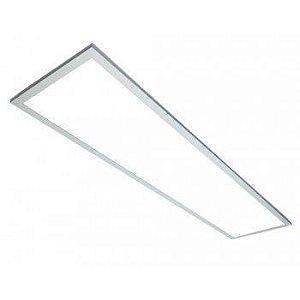 Luminária Painel Plafon LED 45W de Embutir 32x122 Branco Quente