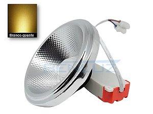 Lâmpada LED AR111 10W com Drive Externo Branco Quente 3000K