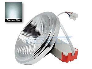 Lâmpada LED AR111 10W com Drive Externo Branco Frio 6000K