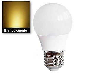 LÂMPADA BULBO LED 7W BRANCO QUENTE 3000K