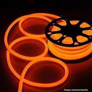 Mangueira Neon De LED Flexível - Rolo com 100 Metros - Laranja