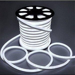 Mangueira Neon De LED Flexível - Rolo com 50 Metros - Branco Frio