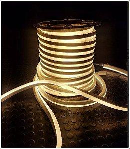 Mangueira Neon De LED Flexível Rolo com 50 Metros - Amarela