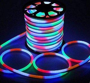 Mangueira Neon De LED Flexível Rolo com 50 Metros Colorida