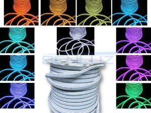 Mangueira Neon De LED Flexível Rolo com 50 Metros RGB com Controle