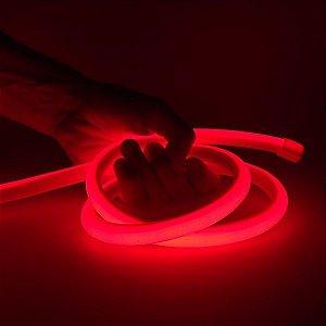 Mangueira Neon De LED Flexível - Por Metro Vermelha