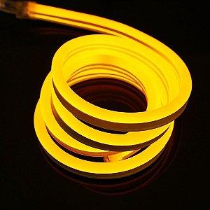 Mangueira Neon De LED Flexível - Por Metro Amarela