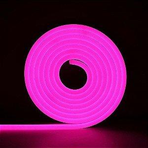 Mangueira Neon De LED Flexível - Por Metro Rosa