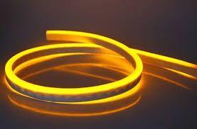 Mangueira Neon De LED Flexível 12V por Metro Amarela