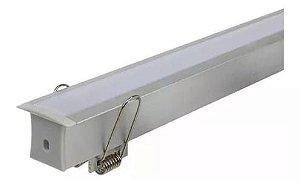 Perfil para Fita LED de Embutir 2 Metros A15 - Branco