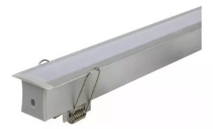 Perfil para Fita LED de Embutir 2 Metros A16 - Aluminio