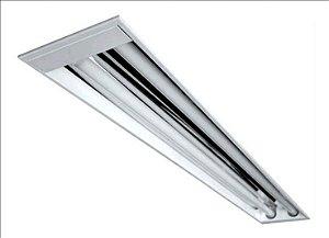 Luminária Comercial de Embutir LED s/Aletas - 2x9w