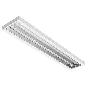 Luminária Comercial de Sobrepor LED s/Aletas - 2x9w