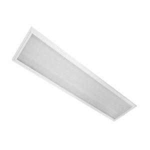 Luminária Comercial de Embutir com Difusor para T8 Led  2x18W