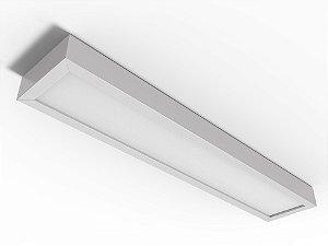 Luminária Comercial de Sobrepor LED c/Difusor - 2x9W