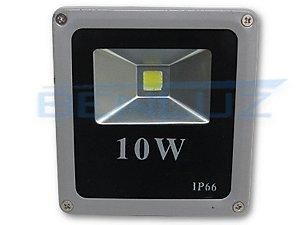 Refletor Holofote de LED 10W Cinza - Branco Quente A Prova d'água