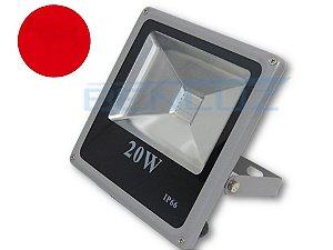 Refletor Holofote de LED 20W Cinza - Vermelho A Prova d'água