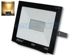 Refletor Holofote De LED 50W - Branco Quente A Prova d'água
