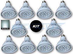 𝐊𝐈𝐓 - 10 Lâmpada LED PAR30 12W Branco Frio