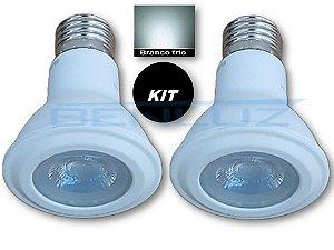 𝐊𝐈𝐓 - 2 Lâmpadas LED PAR20 7W Branco Frio