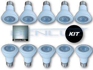 𝐊𝐈𝐓 - 10 Lâmpada LED PAR20 7W  - Branco Frio