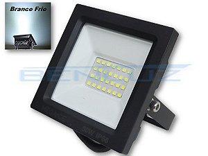 Refletor Holofote LED 50W Mini Branco Frio - A Prova d'água