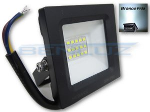 Refletor Holofote LED 30W Mini Branco Frio - A Prova d'água