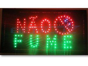 Painel Letreiro LED Sing - Não Fume