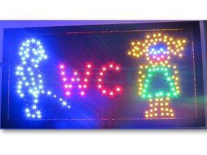 Painel Letreiro LED Sing - Banheiro