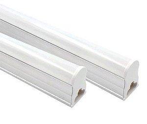 Lâmpada Tubular de Led T5 18W 120cm Fosco com Calha - Branco Frio