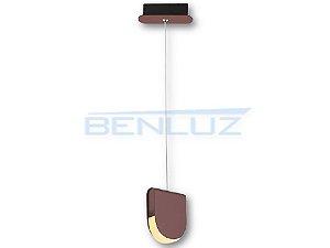 Pendent 15×4.5×120cm Marrom Aluminio+acrilico LED 6W 3000k Bivolt