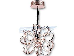 Pendente Φ60×60cm Bronze Acrilico Aluminio LED 3500k 69W