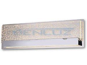 Arandela Retangular C60×l14cmcm Aluminio e Cristal 22w 3000k 1540lm Bivolt