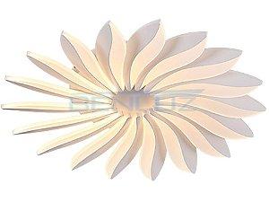 Plafon Φ62×a8cm Aluminio Aclirico LED 90W 3000k 5500lm Bivolt