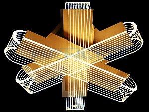Plafon Φ40×h17cm Aluminio Aclirico LED 30W 3000k Bivolt