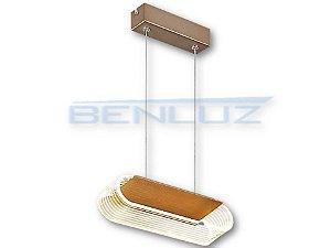 Pendent 25×8.5×150cm Acrilico Dourado LED 10W Bivolt