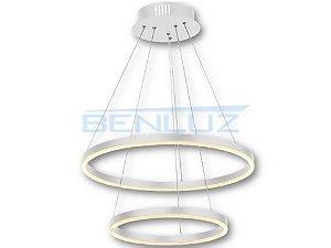 Pendente 40×60×120cm Aluminio Aclirico LED 90W 3000k 4900lm Bivolt
