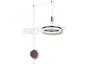 Pendente 40×200cm Acrilico Marrom 36W LED Bivolt