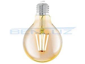 Lâmpada LED 6W G95 Filamento Bivolt