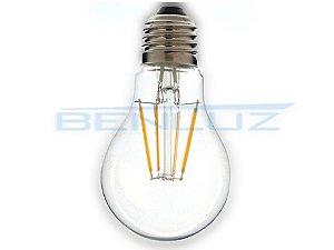 Lâmpada Bulbo LED 6W A60 Filamento Branco Quente Bivolt