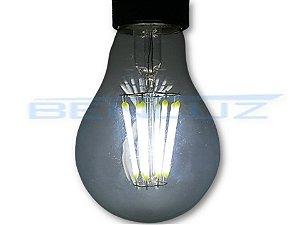 Lâmpada Bulbo LED 8W A60 Filamento Branco Frio Bivolt