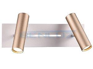 Arandela 34×11×a15cm Dourado Aluminio Aclirico Led 13w 3000k Bivolt