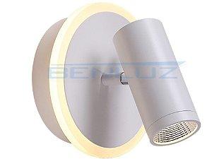 Arandela 16×16×a15cm Aluminio Aclirico LED 12W 3000k 1100lm Bivolt