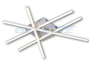 Plafon 61×25×8cm Metal e Silicone Led Branco 38w 3000k Bivolt