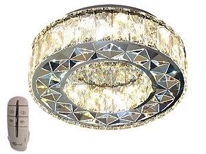 Plafon 35cm Cristal Led 32w 3000k 4000k 6000k Controle Bivolt