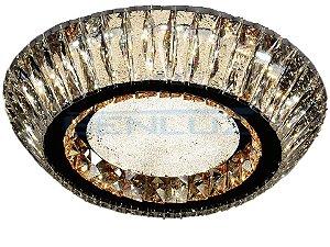 Plafon 45×18cm Cristal Led 60w 3000k 4000k 6000k 2700lm Controle Bivolt