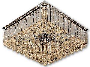 Plafon Quadrado C60×l60×h20cm Cristal G9×12