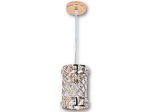 Pendente 150cm Metal+cristal E14×1